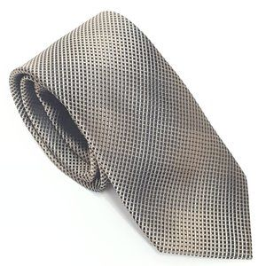 3/$30 NWOT Bar III 100% Silk Black Tan Tie